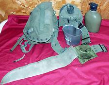 Vietnam M1961 Combat Field Pack Canteen Pistol Belt Buttpack Bag US Army USGI GI