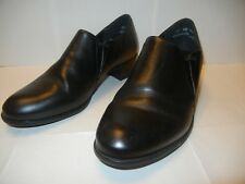 "NEW MUNRO AMERICAN DANTE BLACK LEATHER WOMEN'S SHOE 10 WW 1-1/2"" HEEL"