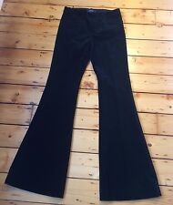 BNWT POLO RALPH LAUREN LADIES MARCIA BLACK CORDUROY FLARE PANTS TROUSERS UK 10 L
