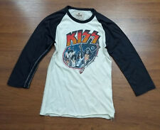 Elephant Trunk KISS World Tour 1979 Army Rock Band Raglan Sleeve Shirt Size 1