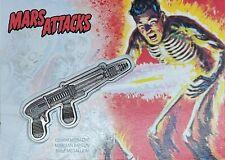 Mars Attacks: The Revenge! Topps Ray Gun Silver Commemorative Medallion 13/15 SP