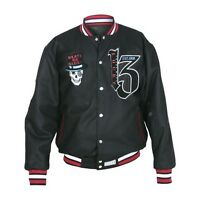 Lucky 13 Jacket REVERSIBLE Limited Edition Two Faced Skull Varsity Letterman 2XL
