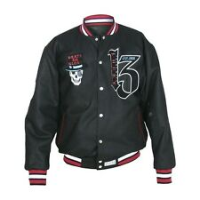 Lucky 13 Jacket REVERSIBLE Limited Edition Two Faced Skull Varsity Letterman XL