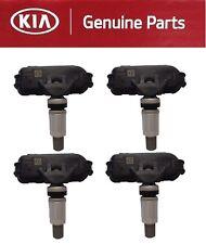 Genuine KIA TPMS Sensor Forte Rio Elantra Tucson Set of 4 Wheel Valve Stem