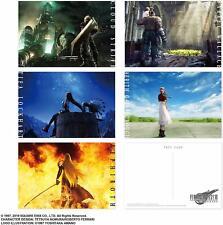 Final Fantasy 7 VII Remake Postcard Set 5 Post Cards Image Art Square-Enix Japan