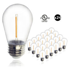 24pcs LED 1W String Light Bulbs Replacement Outdoor Light Shatterproof Plastic