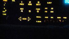 DELCO GM GMC CHEVY DISPLAY LIGHT BULBS FOR CD, CASS RADIO 10 EACH