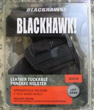 "Blackhawk IWB Inside Waistband Left-Handed Leather Holster 4"" to 4.5"" XD XDM NEW"
