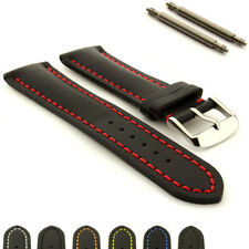 Genuine Leather Watch Strap Band Heavy Padded SS. Buckle 18 20 22 24 Canyon MM