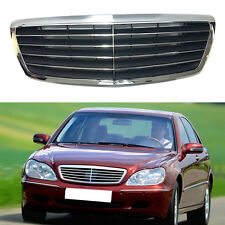 Front Grille Hood Grill Fit For Mercedes-Benz CLASS S/W220 1998-01 Free Shipping
