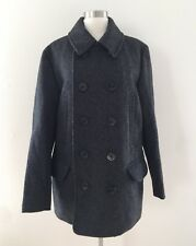 New JCrew $268 Mens Wool Dock Peacoat With Thinsulate M Jacket Coat Grey F5548