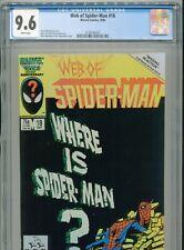 1986 MARVEL WEB OF SPIDER-MAN #18 1ST APPEARANCE VENOM CAMEO CGC 9.6 WHITE BOX5