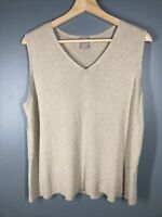 chicos 3P gold sleeveless shell Shirt - sweater  Metallic Sparkle! Petite Xl