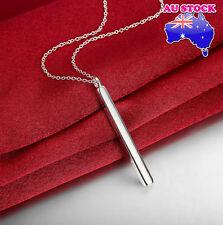 Wholesale Elegant 925 Sterling Silver Filled Long Bar Pendant Necklace Gift