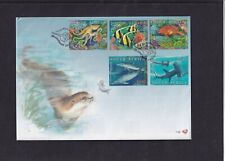 South Africa 2001 Fish & Marine Life dolphin shark seal ray First Day Cover FDC