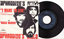 "APHRODITE'S CHILD - I WANT TO LIVE Ultrarare 1969 french PSYCH 7"" P/S Single!"