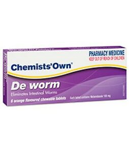 =>PRICE SMASH Chemist's Own DE Worm,6 Chewable Tablets for intestinal threadworm