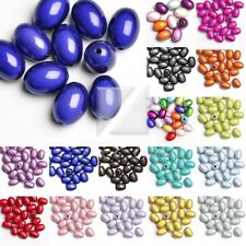 10pcs/25pcs Acrylic Oval Miracle Illusion Beads Spacer 19x13.5x13.5mm/11x8x8mm