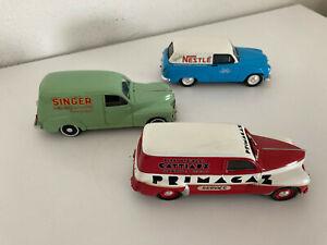 1/43 lot 3 Norev Ixo Eligor Peugeot 203 simca Aronde  Primagaz , singer , Nestlé