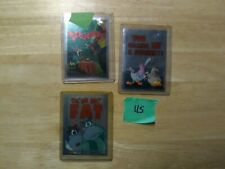 1995 Topps Animaniacs Foil Stickers Lot (3) #2/8/12