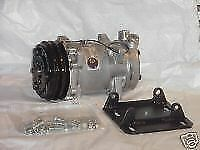 NEW SANDEN STYLE 508 2GV AC COMPRESSOR AND YORK TO SANDEN MOUNT KIT #8#10 FITTIN
