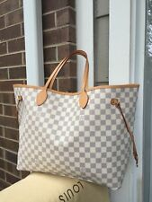 ✦Authentic✦ LOUIS✦ VUITTON ✦Damier Azur canvas Neverfull GM Tote Bag