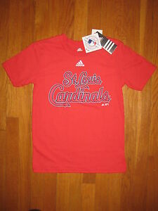 NEW Adidas St Louis Cardinals T SHIRT boys girls M medium 10 12 red Genuine MLB