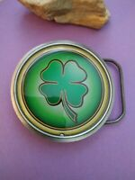 2004 great American products four leaf clover belt buckle Irish luck