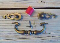 Vintage KBC Drawer Pull / Handle N12884 + Escutcheon N19774 & N19775