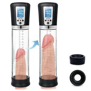 Rechargeable Electric Power Penis Pump for Men Girth Length Enhancer