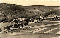 Holzhau Erzgebirge DDR s/w AK 1962 Gesamtansicht Panoramablick über Felder Wald