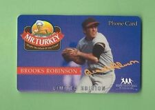 BROOKS ROBINSON 1994 MR. TURKEY PLASTIC PHONE CARD ORIOLES --ONLY ONE ON EBAY