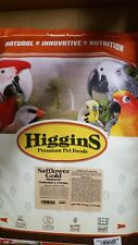 Higgins Safflower Gold Cockatiel and Conure bird food 25 Lbs