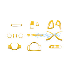 16PCS Yellow ABS Car Interior Kit Cover Trim For Mercedes-Benz SMART 2010-2014