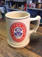 BRT Vintage 80s Pottery Mug Beer Stein Carlton United Breweries Melbourne Stout