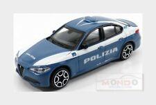 Alfa Romeo Giulia Polizia 2016 Blue White BURAGO 1:43 BU30387POL