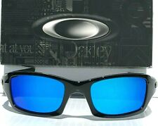 NEW* Oakley FIVES Squared BLACK w POLARIZED Galaxy Blue Lens Sunglass 9238