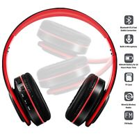 Wireless Bluetooth Headset HI-FI Stereo Over Ear Foldable Headphones & Mic New