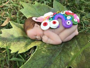 Ooak Fairy Baby, Fantasy, Mythical, Magic, Elf, Pixie, Angel, Sculpture