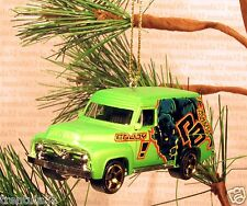 1955 FORD F-100 PANEL DELIVERY TRUCK '55 CHRISTMAS ORNAMENT Green rare XMAS