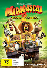 MADAGASCAR 2: ESCAPE 2 AFRICA - BRAND NEW & SEALED REGION 4 DVD (DREAMWORKS)