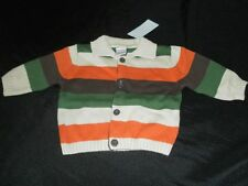 NWT Gymboree Boys LITTLE TRACTOR COMPANY Co 3 6 Sweater Striped Cardigan Brown