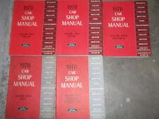 1970 Lincoln Continental Continental Mark III Service Shop Repair Manual Set OEM