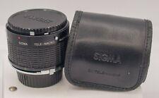 Sigma Tele-Macro 1:1 & 2x Tele-Converter For Minolta MD Mount Cameras/Lenses
