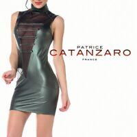 Patrice Catanzaro - Uzi - Robe moulante sexy KAKI fetish en laqué aspect cuir