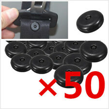 50Pcs Clips Seat Belt Stopper Buckle Button Fastener Safety Black Car Seat Part