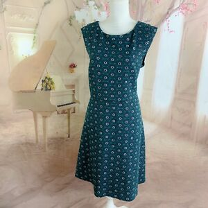 NEW LOFT Ann Taylor Women's Green Geometric Sheath Dress Plus Size 14