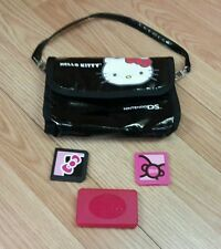 Hello Kitty Carrying Case Bag w/ Cartridge Cases For Nintendo DS & Accessories