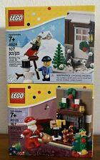 LEGO 40124 Winter Fun & 40125 Santa's Visit Bundle Brand New  & Sealed