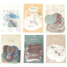 40Pcs/pack Creative Vintage Series Diary DIY Hot Stamping Scrapbooking Stickers